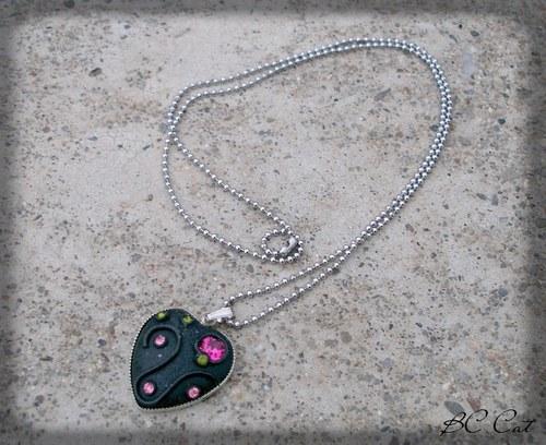Temné srdce - náhrdelník