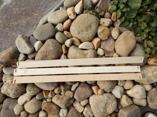 Dřevěné lišty se zářezem