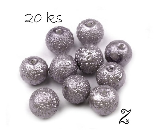 Zigana, stříbrná, 8 mm (20ks)