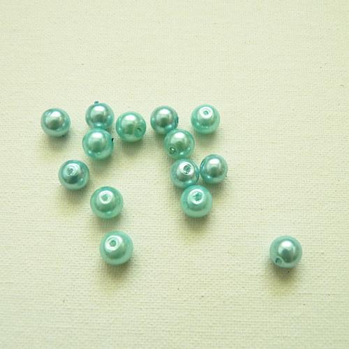 Perličky světle modré 14 ks