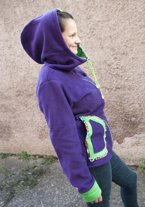 Srdcovka zeleno-fialová