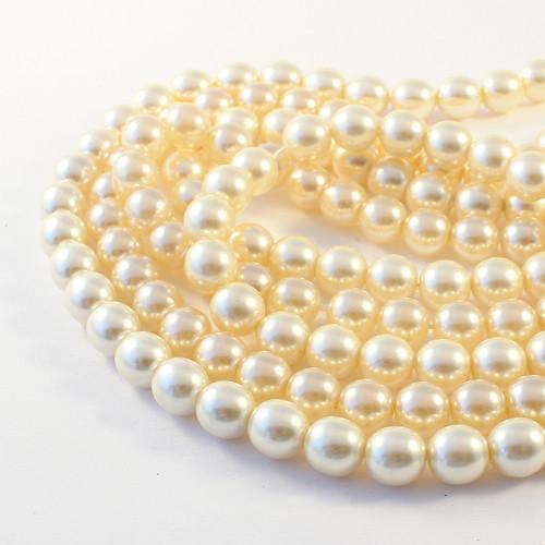 Voskové perle 8 mm krémové 40 ks