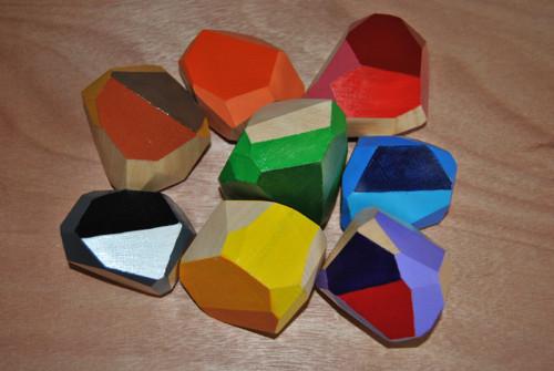 Barevné balanční kameny
