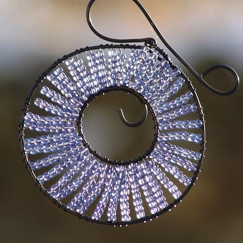 Kolečko k zavěšení fialové - 10 cm