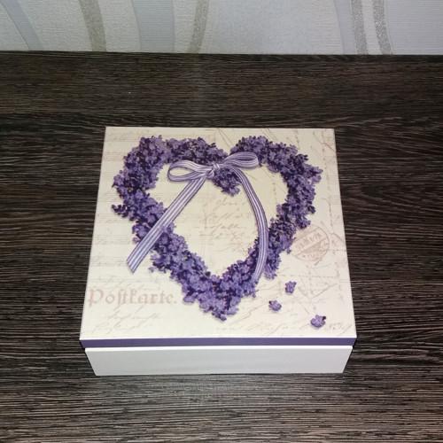 Krabička - levandulové srdce