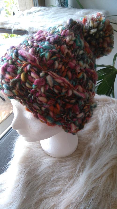 Pletená teplá čepice