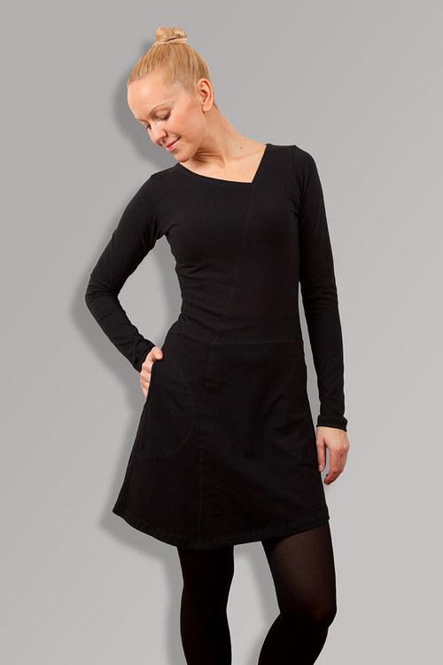 CAMELLIA BLACK DRESS