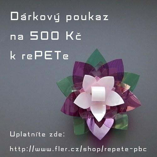 Nákupní poukaz 500 Kč u prodejce rePETe PBC