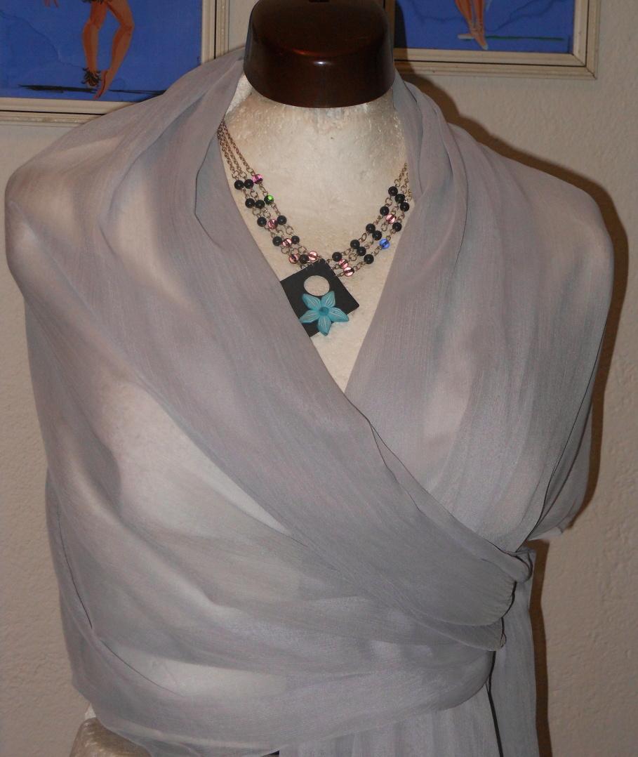 43788b0cd99 společenský šál-šedo stříbrný-světlý-dlouhý 180 70   Zboží prodejce ...