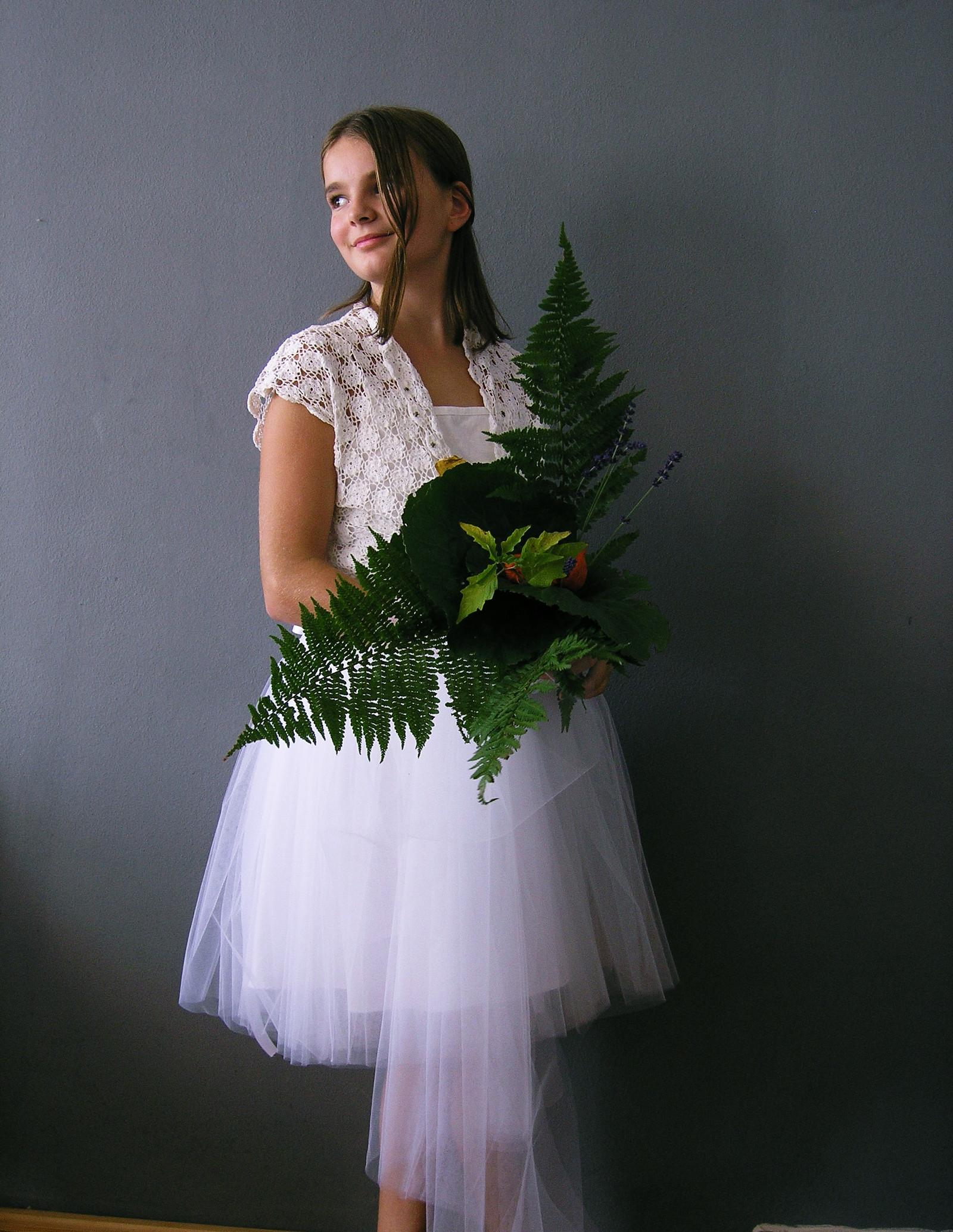c38f4147a Tylová sukně ...bílá s mašličkou :) / Zboží prodejce ceasara | Fler.cz