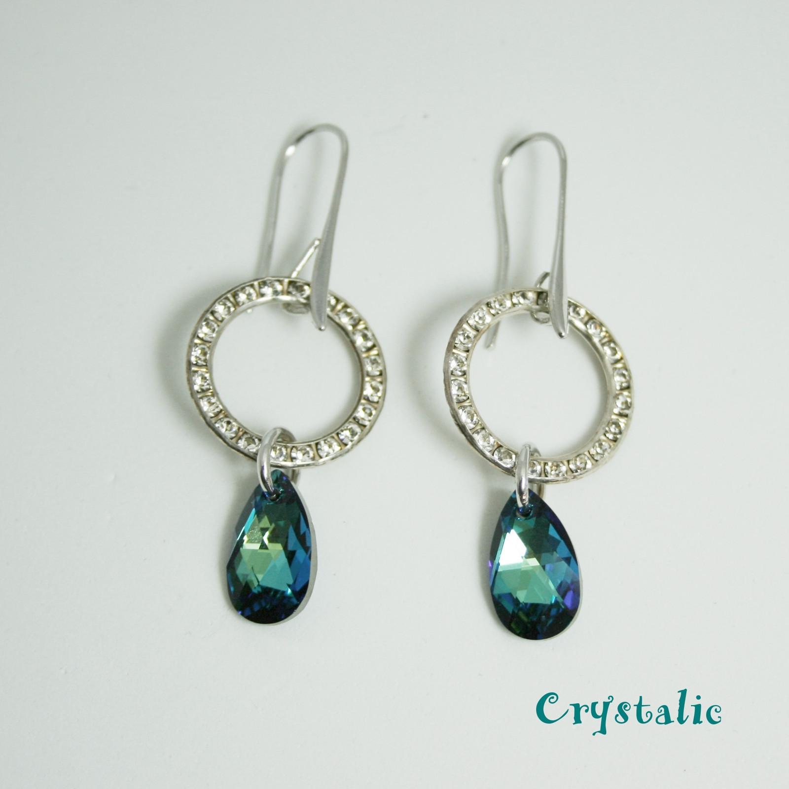 Náušnice kolečka se Swarovski crystals   Zboží prodejce Crystalic ... e83dc724596