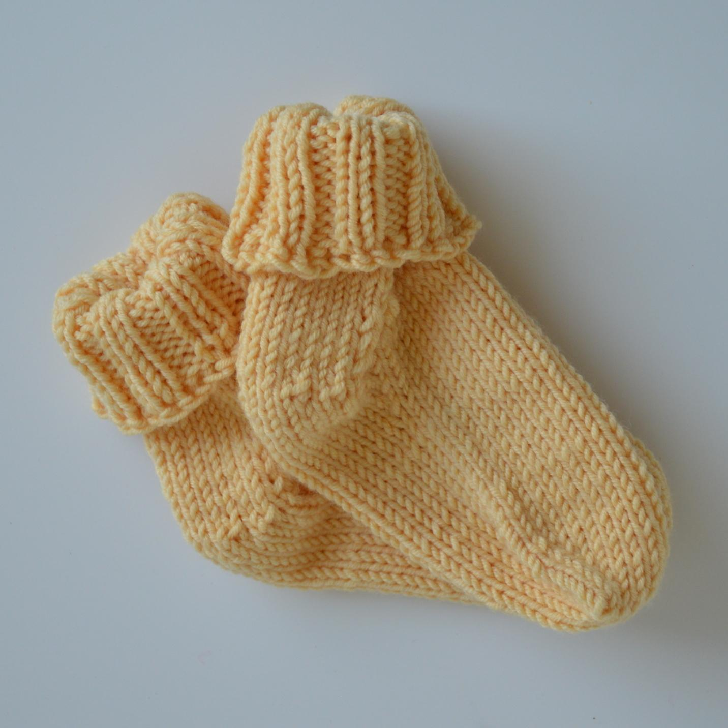 a942f72391a Merino ponožky od naší babičky - žluté   Zboží prodejce Malinky ...