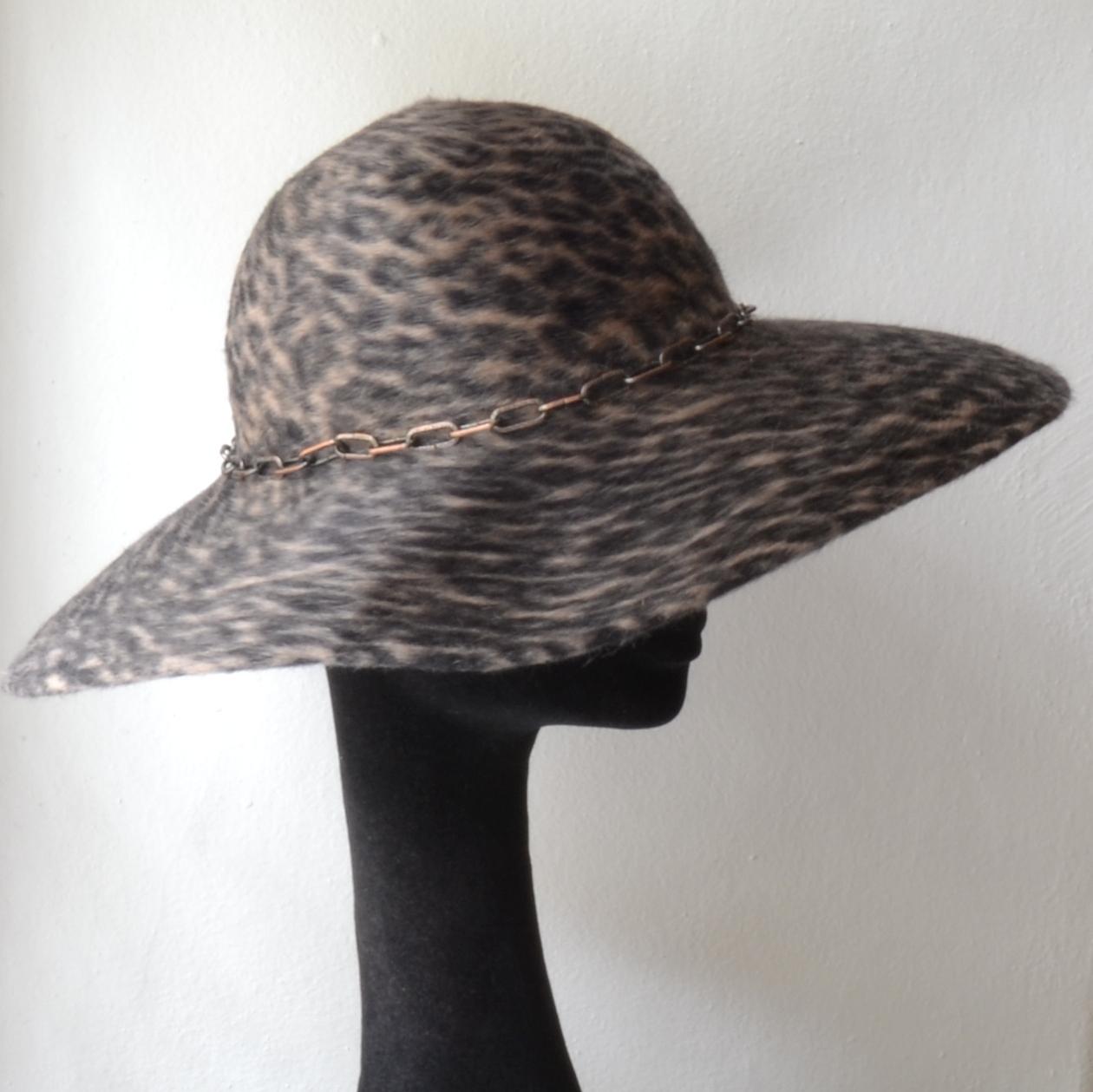 83b3512359e Dámský Plstěný Klobouk Floppy Hat Gepard   Zboží prodejce modistka ...