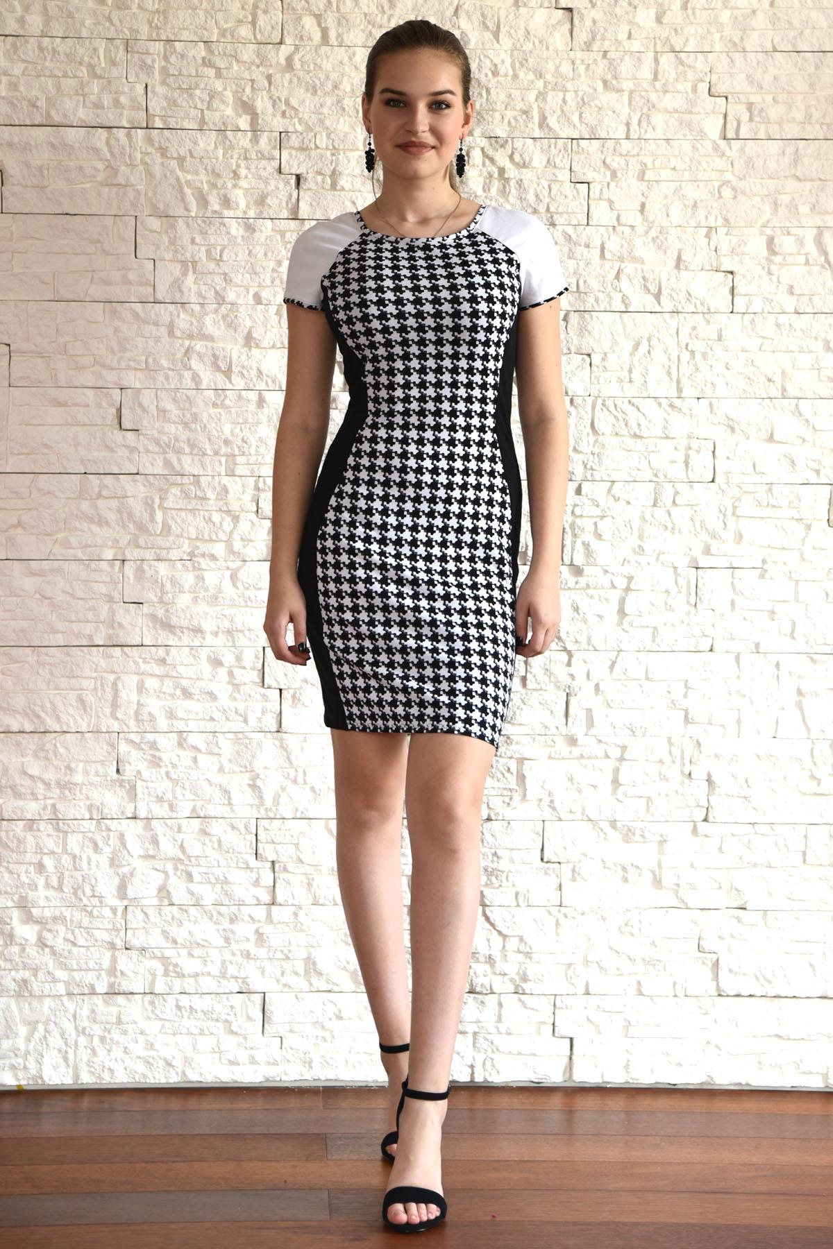 Černobílé pouzdrové šaty   Zboží prodejce Janette M  70ba79c334