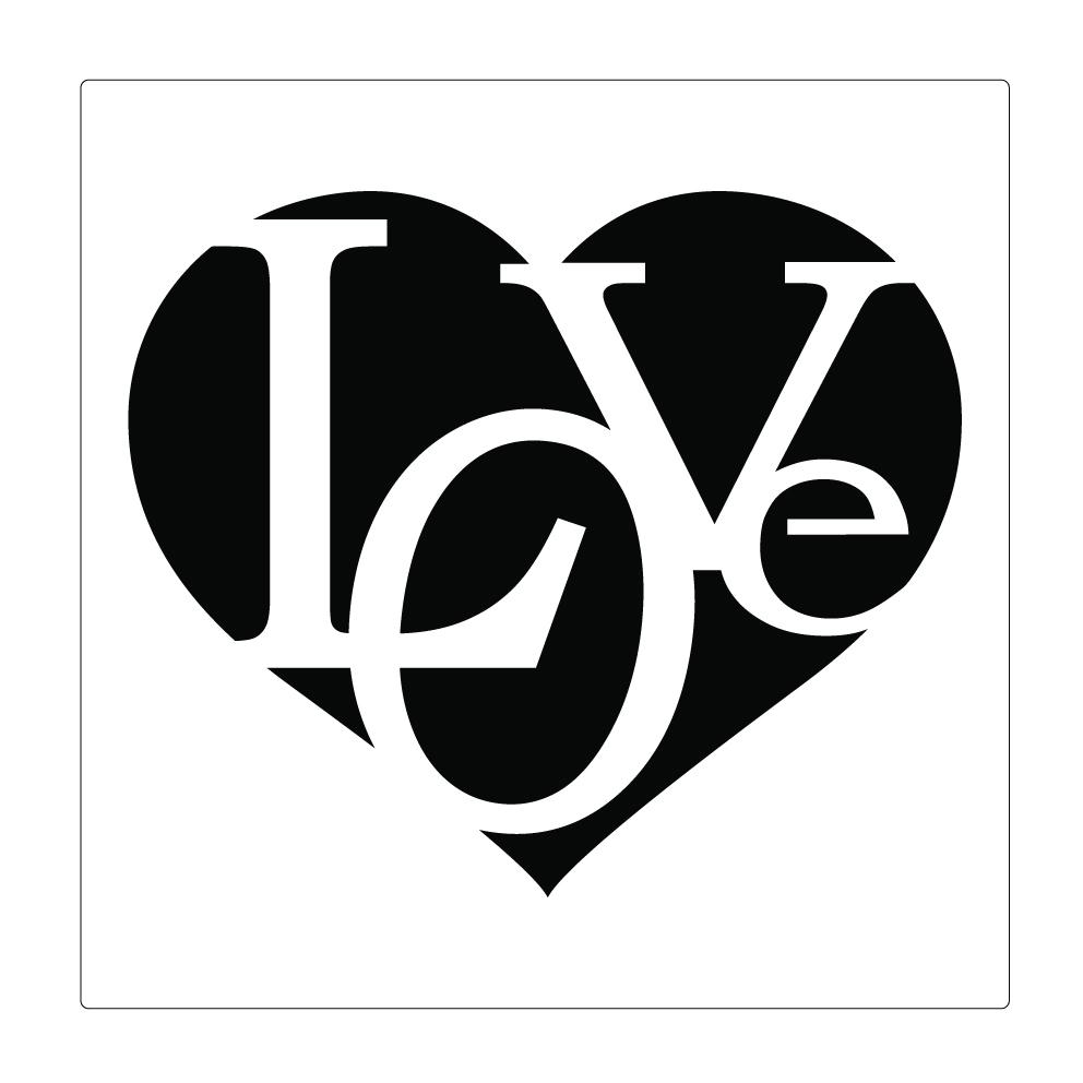 Sablona Na Malovani Srdce Love 15 X 15 Cm Zbozi Prodejce