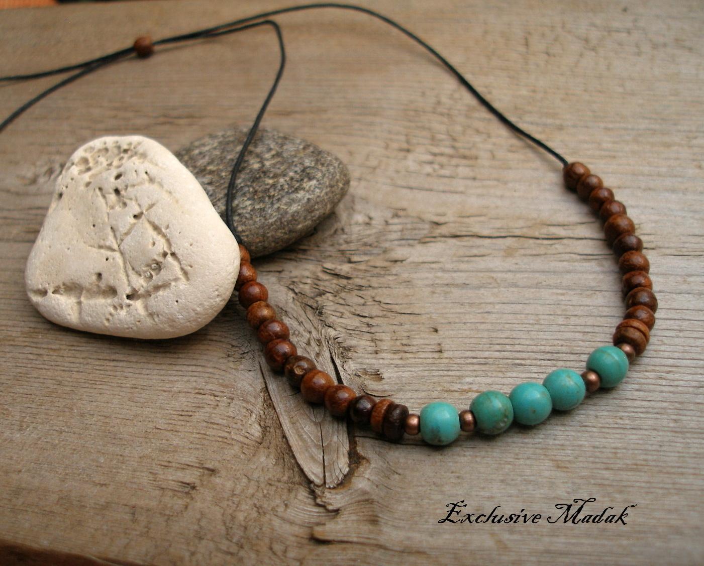 6db586022 Stone and wood I. ..... náhrdelník, tyrkenit / Zboží prodejce ...