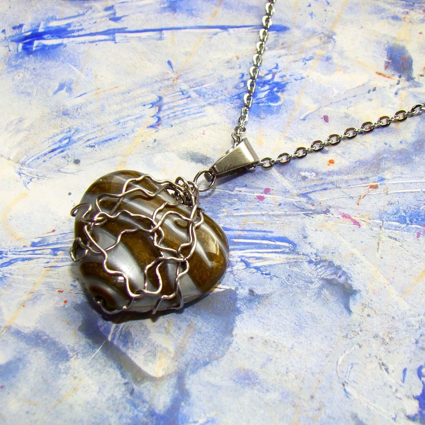 7bb61c4c5 náhrdelník Spoutané srdce- chirurgická ocel / Zboží prodejce ...