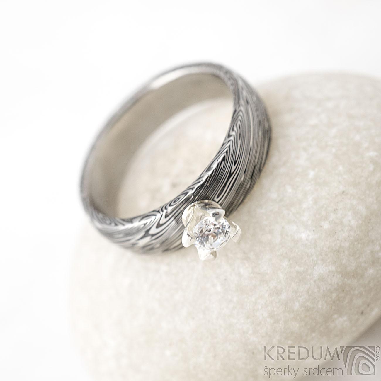 Kovany Zasnubni Prsten Damasteel Prima Princezna Zbozi Prodejce