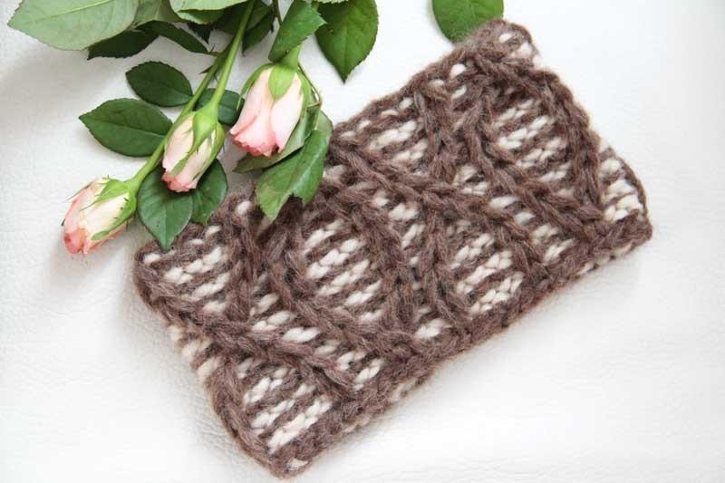 Luxusní vlněná ručně pletená dámská čelenka   Zboží prodejce ... 2bdf82854e