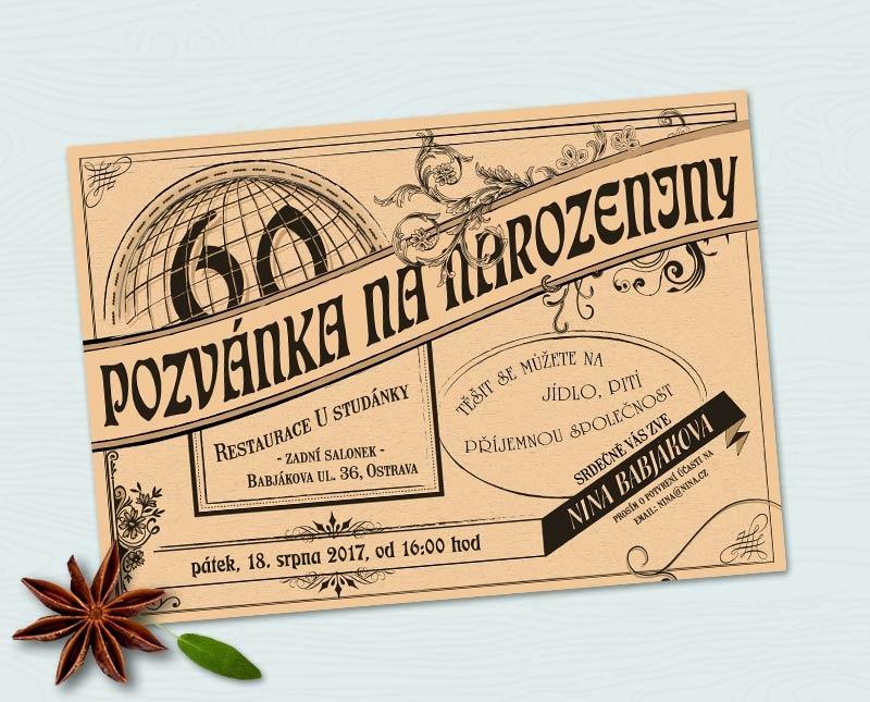 pozvánka na narozeniny 50 let Retro pozvánka na oslavu narozenin (No.36) / Zboží prodejce yarkal  pozvánka na narozeniny 50 let