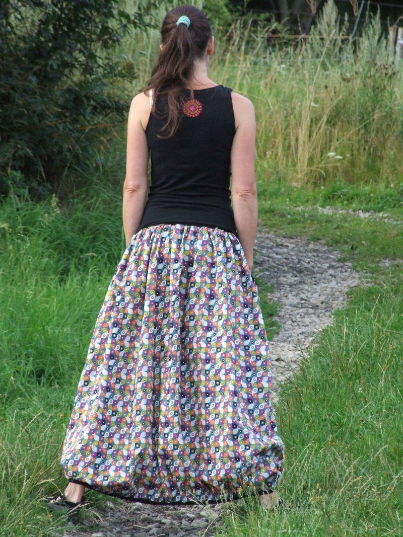 aaf0ebf7974 biobavlněná dlouhá sukně barevná   Zboží prodejce Canafé