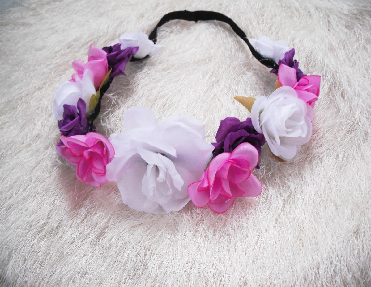 Květinová čelenka barevná vílí mix   Zboží prodejce angelieenka ... 0ec581bb35