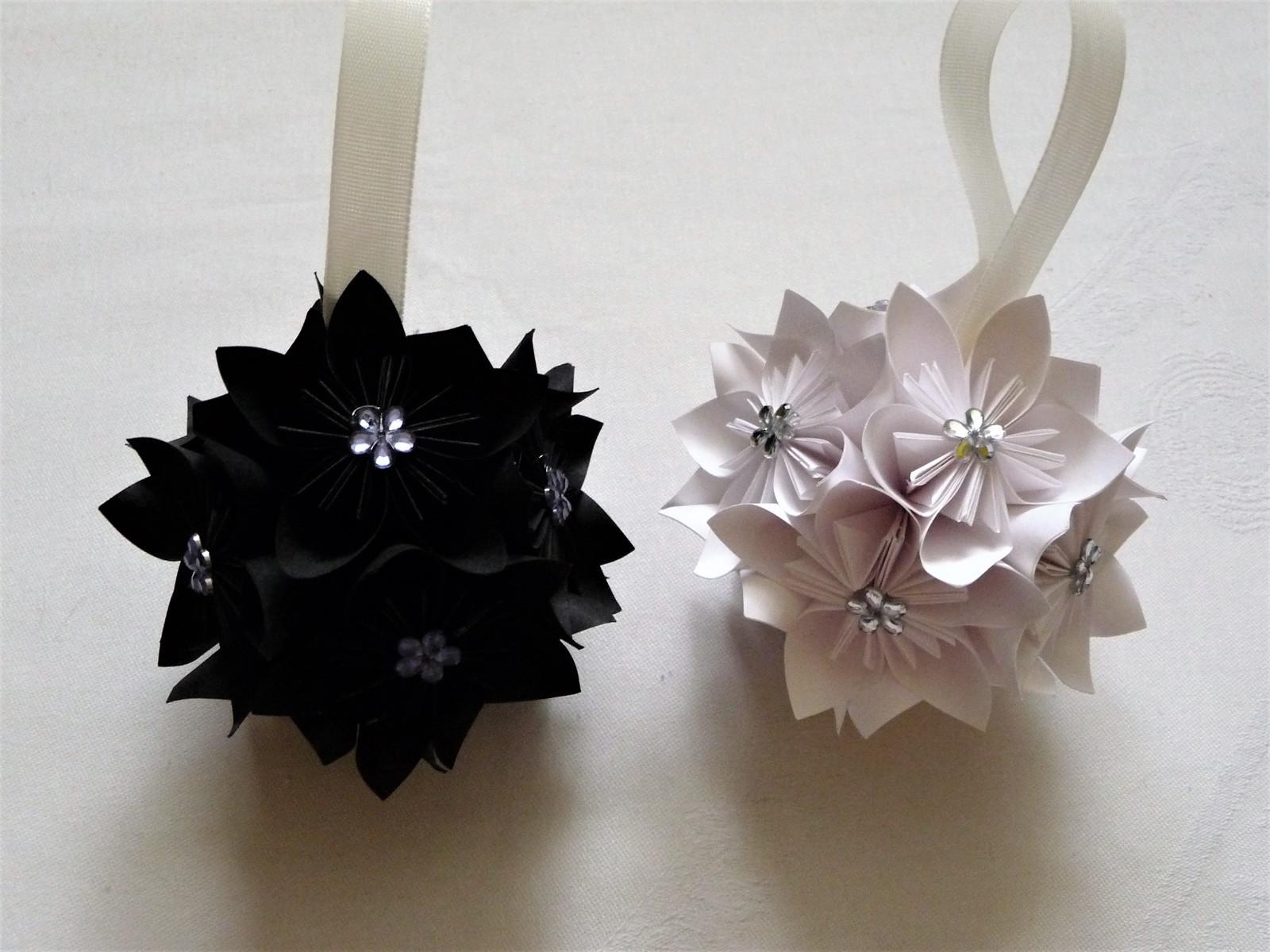 Vánoční origami koule-sada bílá+černá / Zboží prodejce ... - photo#9