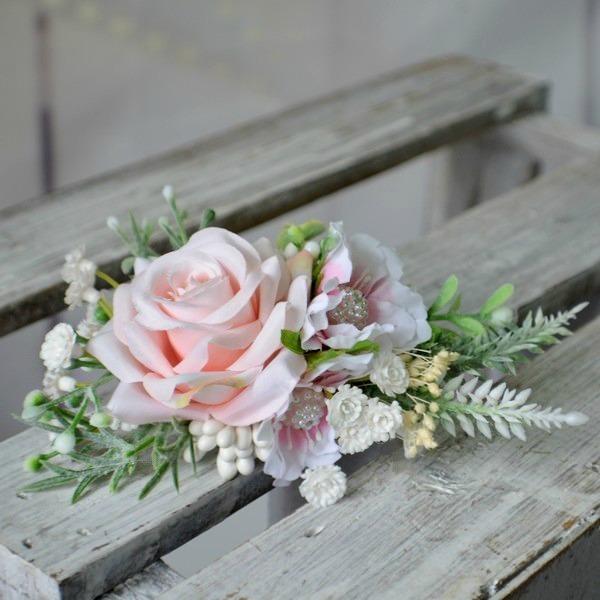 96bbcbcc474 Květinová spona do vlasů růžová   Zboží prodejce kultdesign