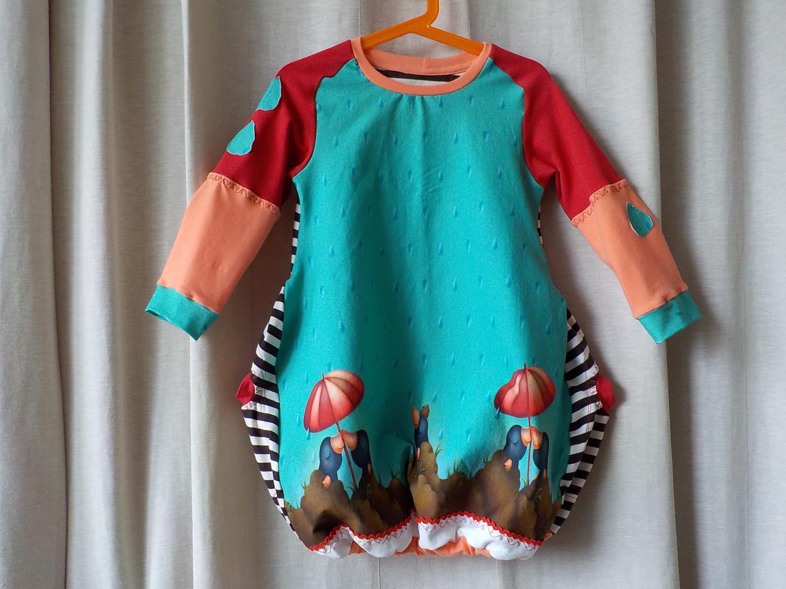 3fb6b386e596 Detské úpletové šaty - Pod deštníkem   Zboží prodejce azavodska ...