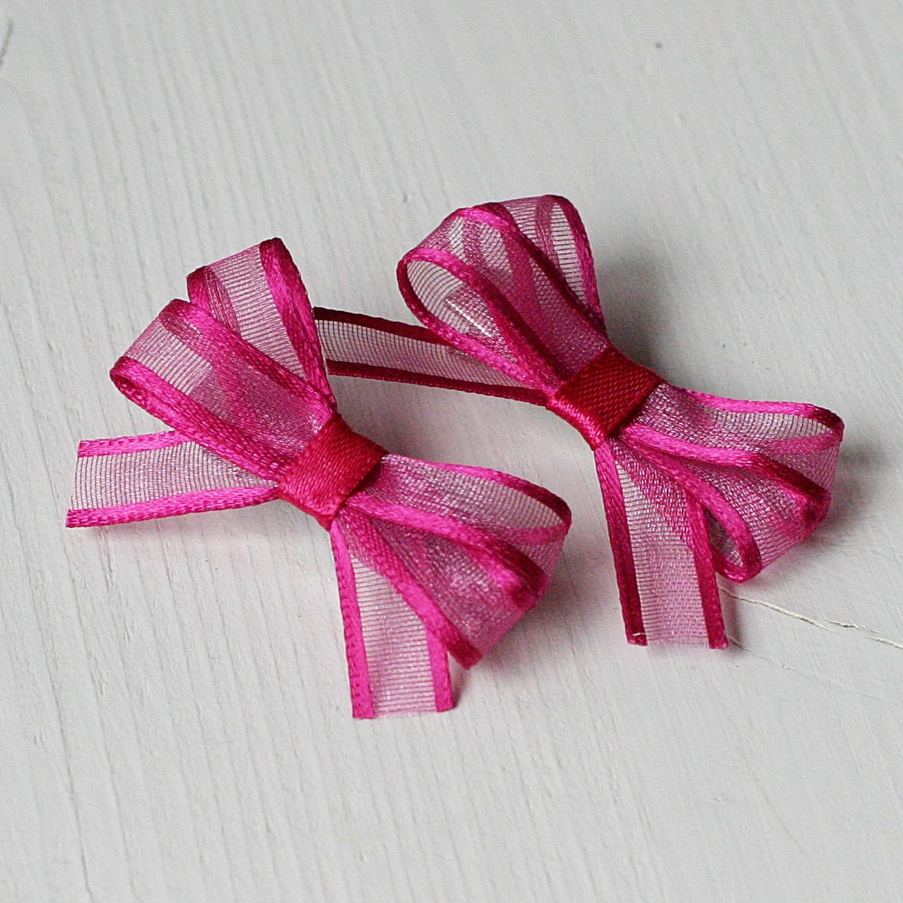 44eb9e0c2f5 Sponka do vlasů - tmavě růžová mašlička   Zboží prodejce K-Design ...