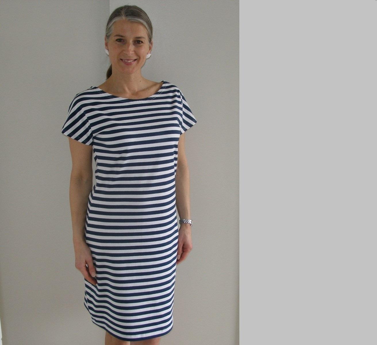7463df047fc Pruhované šaty...s krátkým rukávem...   Zboží prodejce jmmoda