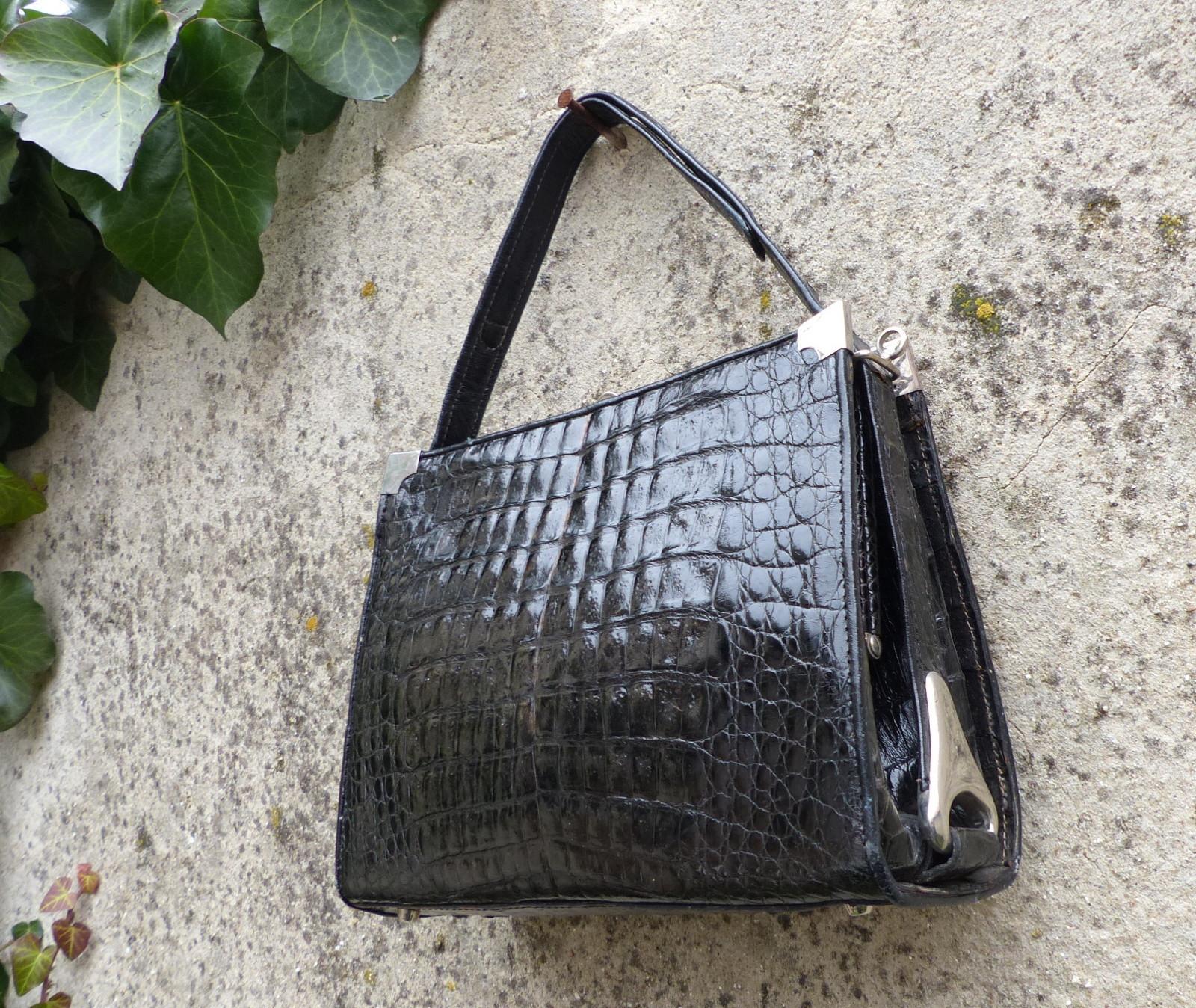 a16c6b5b60a Luxusní rámová kabelka z krokodýlí kůže   Zboží prodejce letokruhy ...