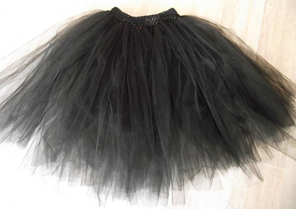 Dámská tylová tutu sukně - černá - jednovrstvá   Zboží prodejce ... e939651226