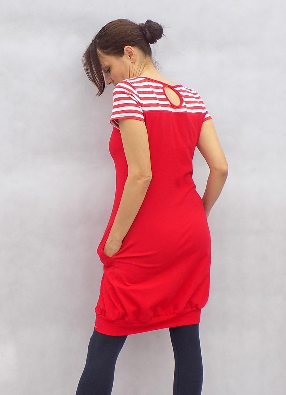 Červenobílé šaty....vel.L   Zboží prodejce LaPanika  cc8760a131c