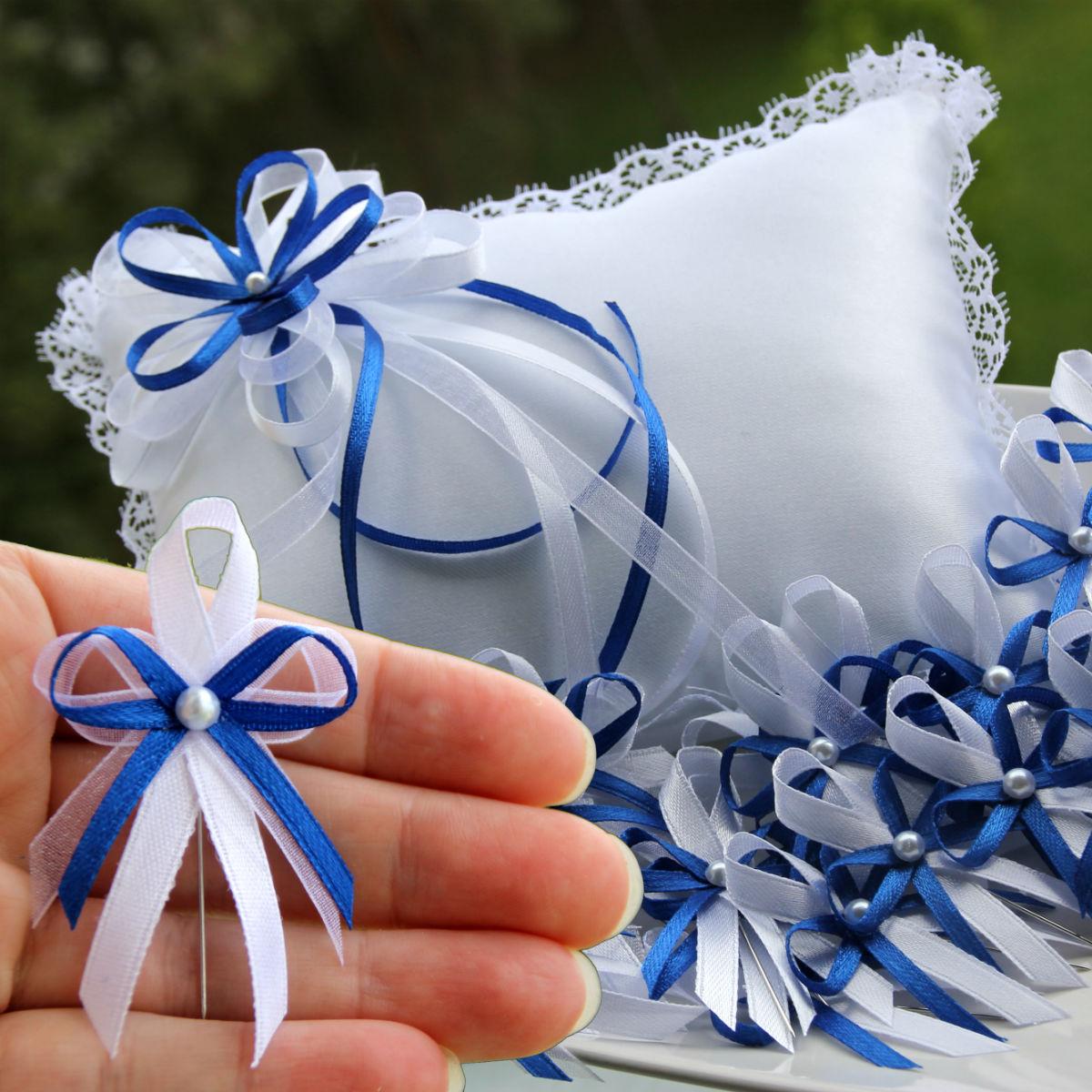 Svatebni Sada Modra Kralovska Polstarek Vyvazky Zakladni Sada 1