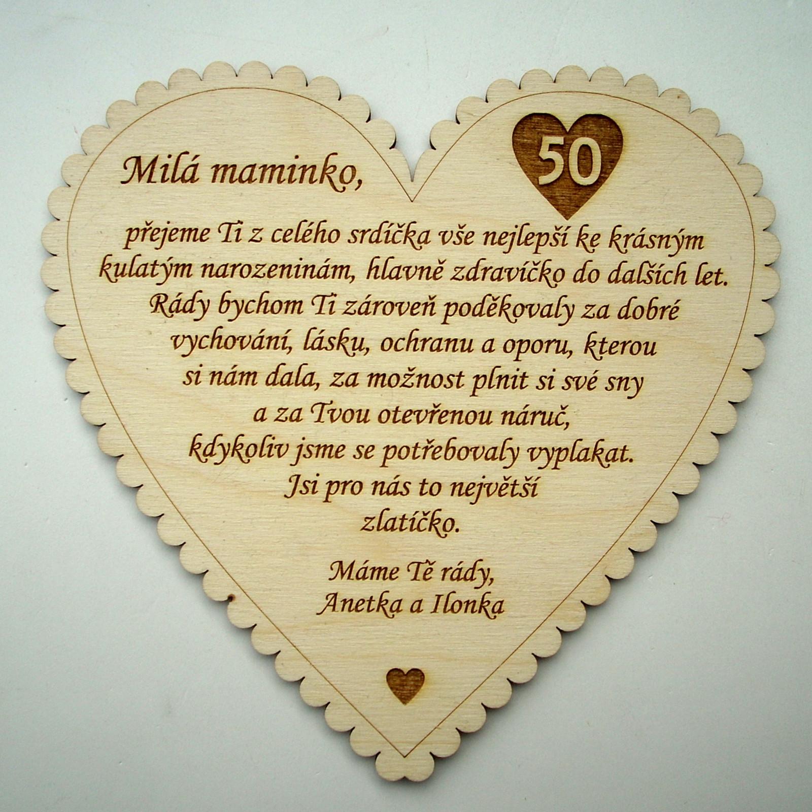 přání mamince k 50 narozeninám Blahopřání mamince