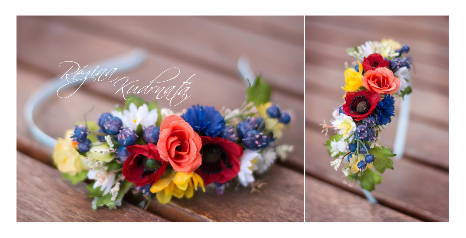 Letní květinová čelenka do vlasů   Zboží prodejce Rézina Kudrnatá ... 27e22524e5