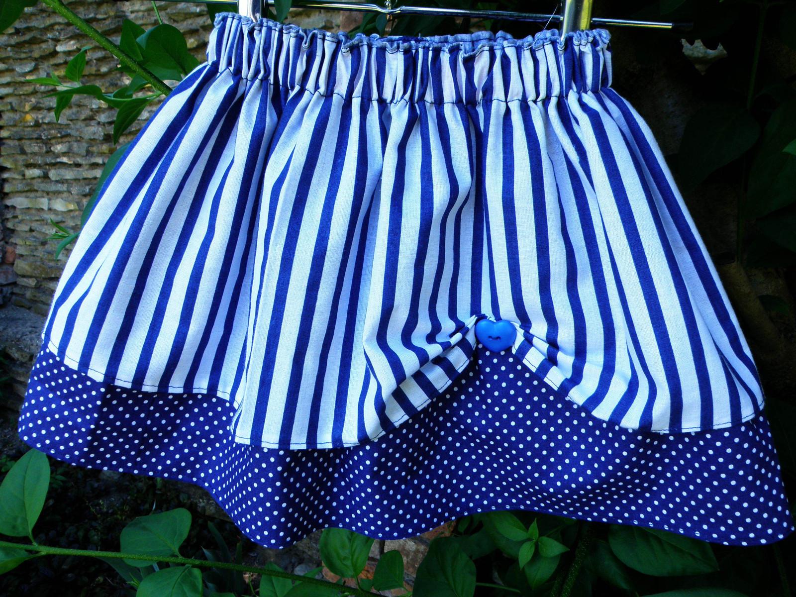 5cec756da53a Dívčí dětská sukně - námořnická modrá   Zboží prodejce Soví Houk ...