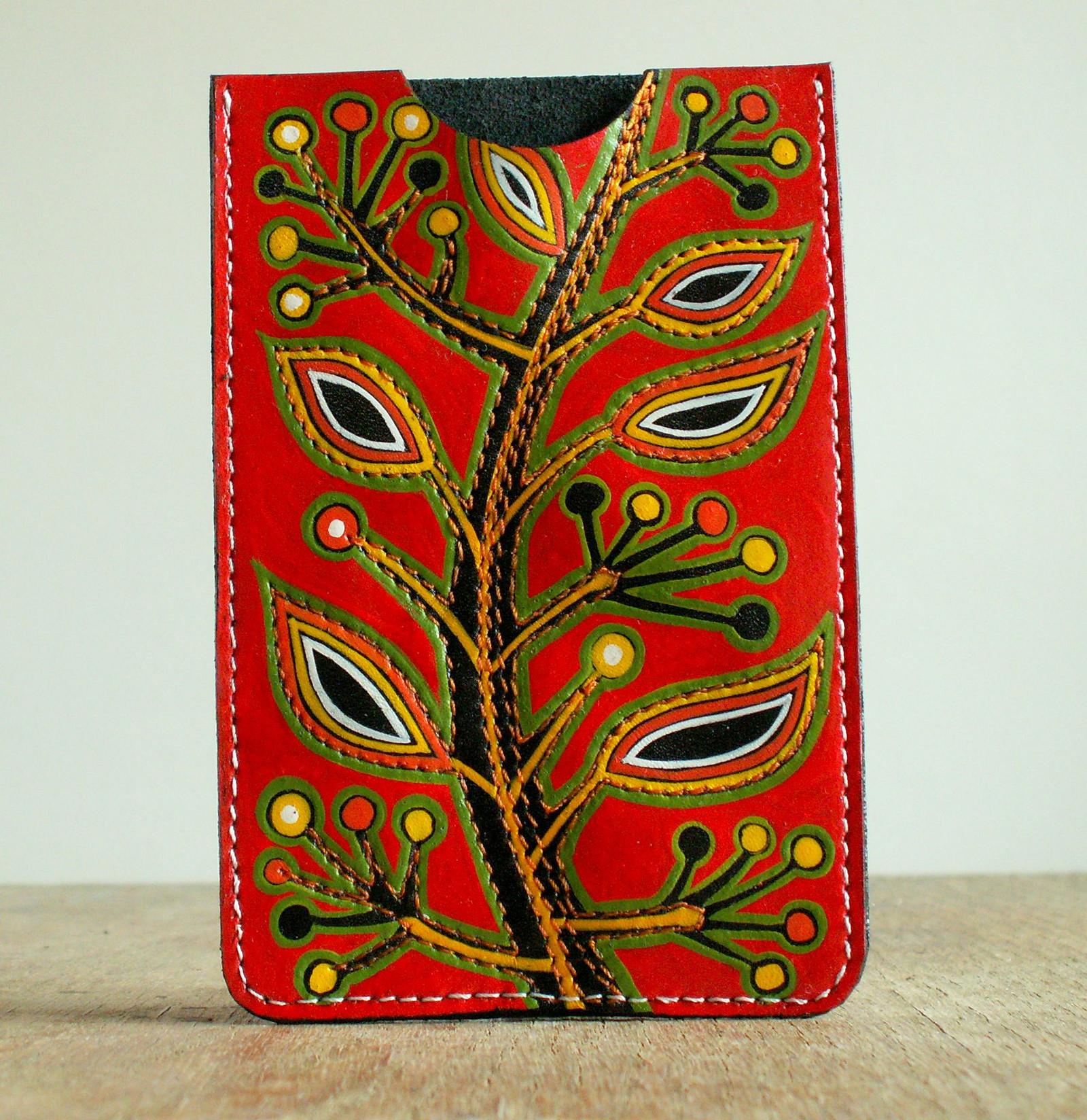 Strom životu - kožené pouzdro na mobil   Zboží prodejce Natellka ... 381304d082