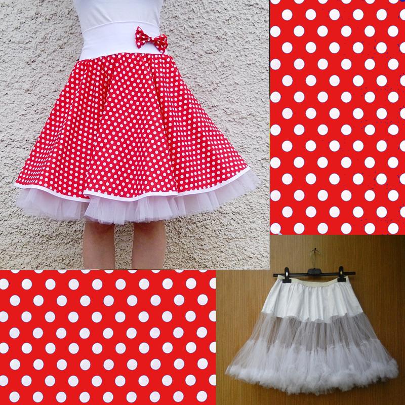 b96ad1b79ae Červená puntík. sukně+objemnější bílá spodnička   Zboží prodejce ...