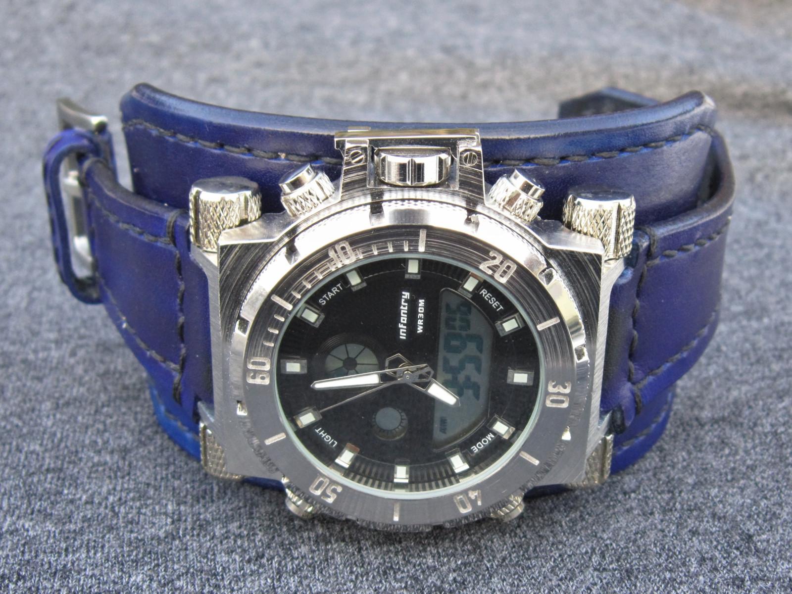 Modré pánské hodinky INFANTRY c99bcea097