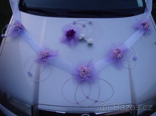 Svatebni Dekorace Na Auto Nevesty Lila Bila Zbozi Prodejce