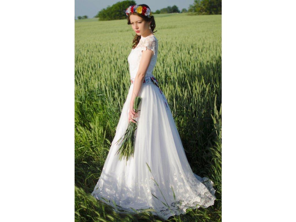 ecac7dbfd34 Dlouhé folklórní svatební šaty   Zboží prodejce Mia Bella