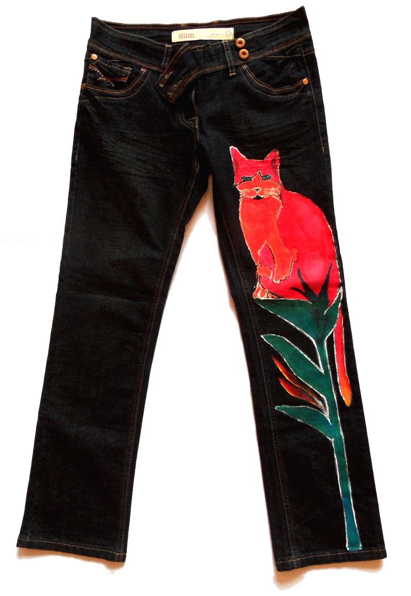 af33f70026a Tmavě modré dámské malované slim džíny Next   Zboží prodejce Lebarbu ...