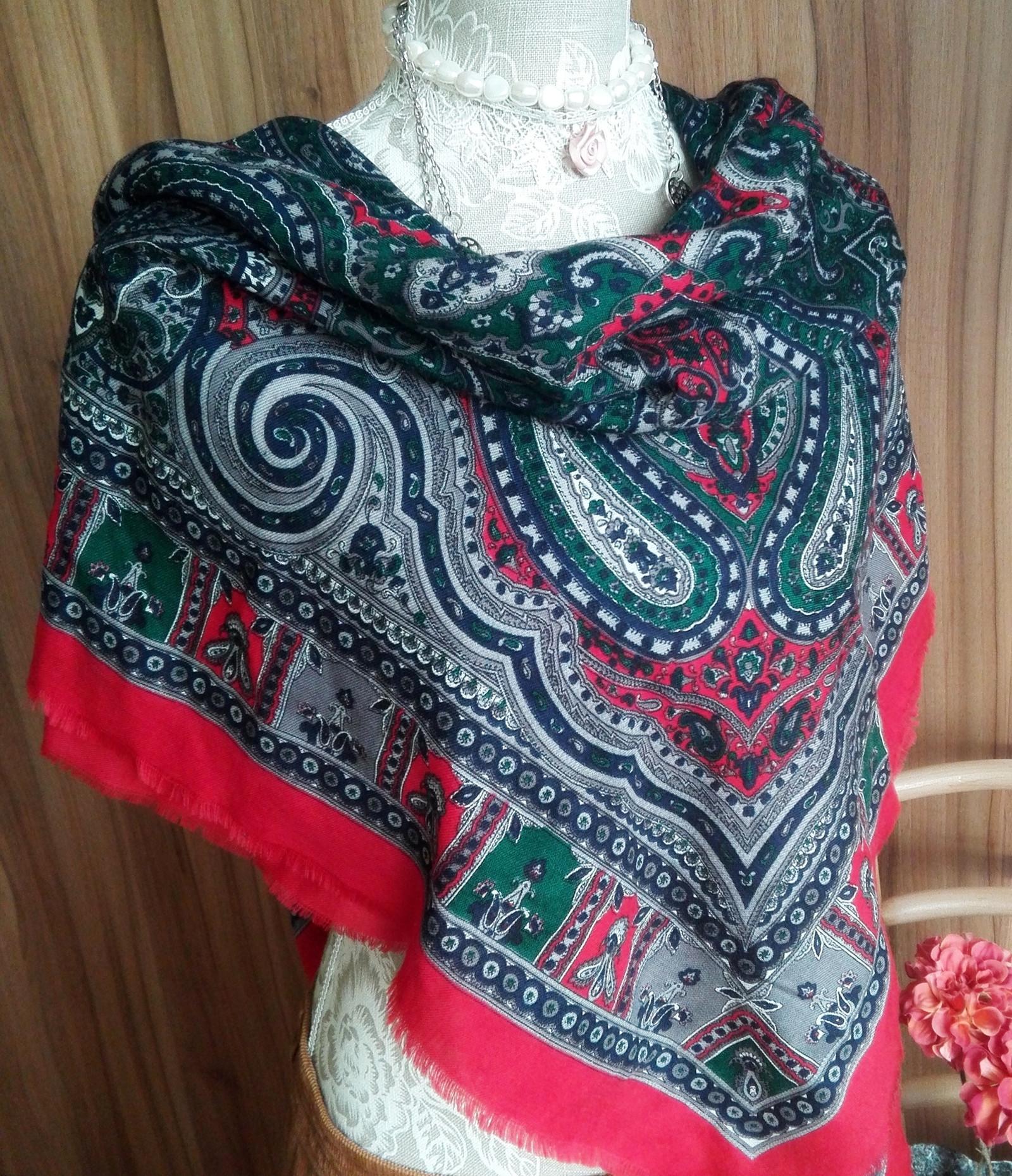 Kašmírový maxi šátek - Ten 542c06383d