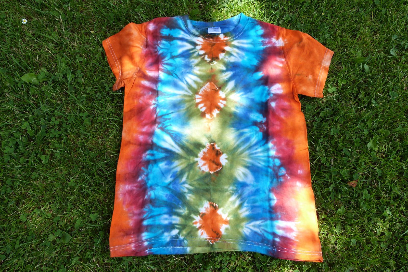 be8d83cb83b8 Dětské batikované triko vel. L   Zboží prodejce JANY design