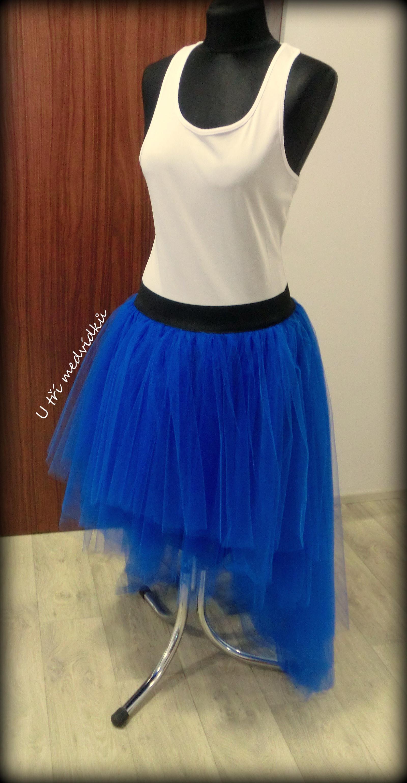 208b40e8e63b Dámská tylová sukně - tmavě modrá   Zboží prodejce MVstyle
