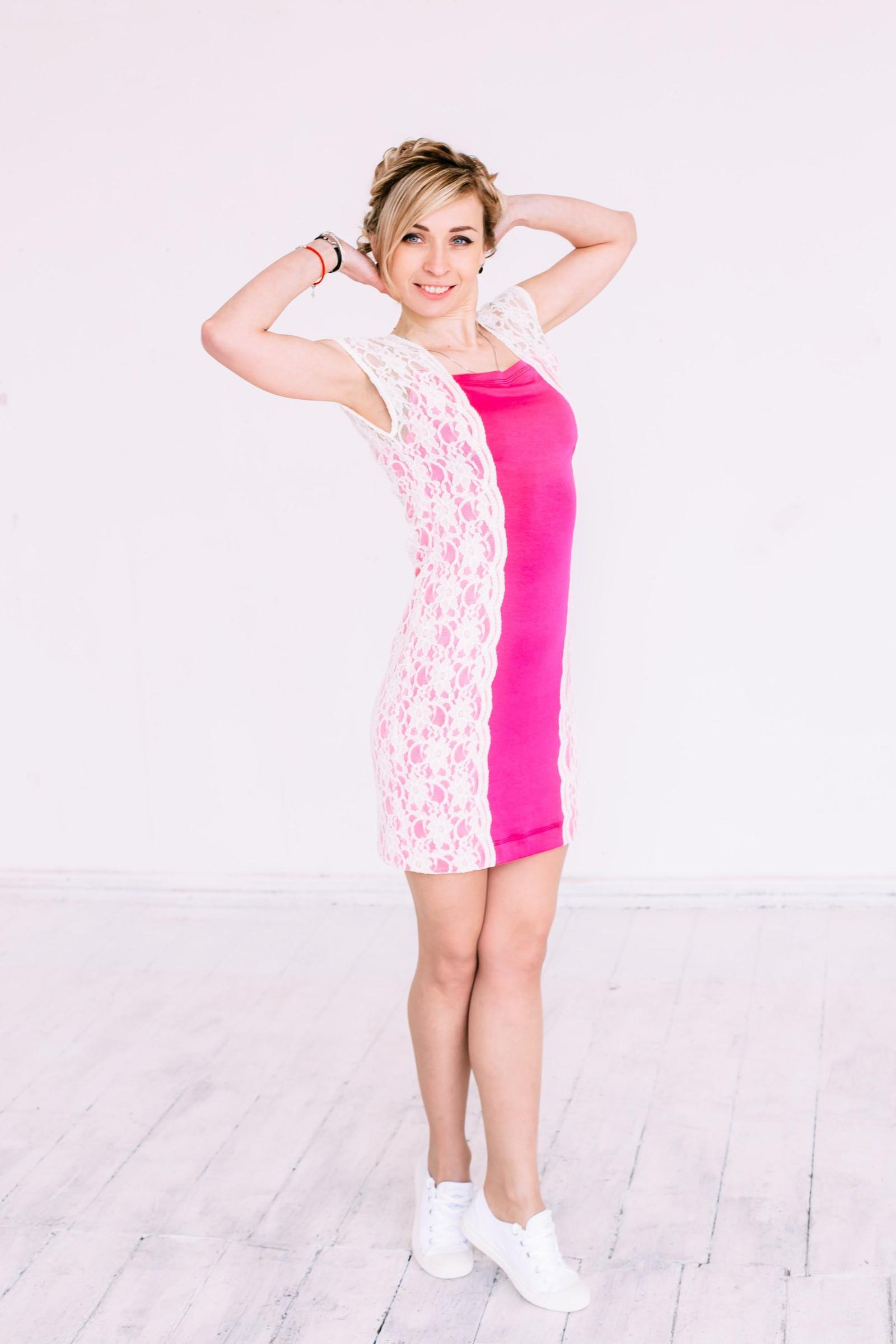47d6fc61f004 Růžové plesové šaty s krajkou (Velikost S)   Zboží prodejce saraffan ...