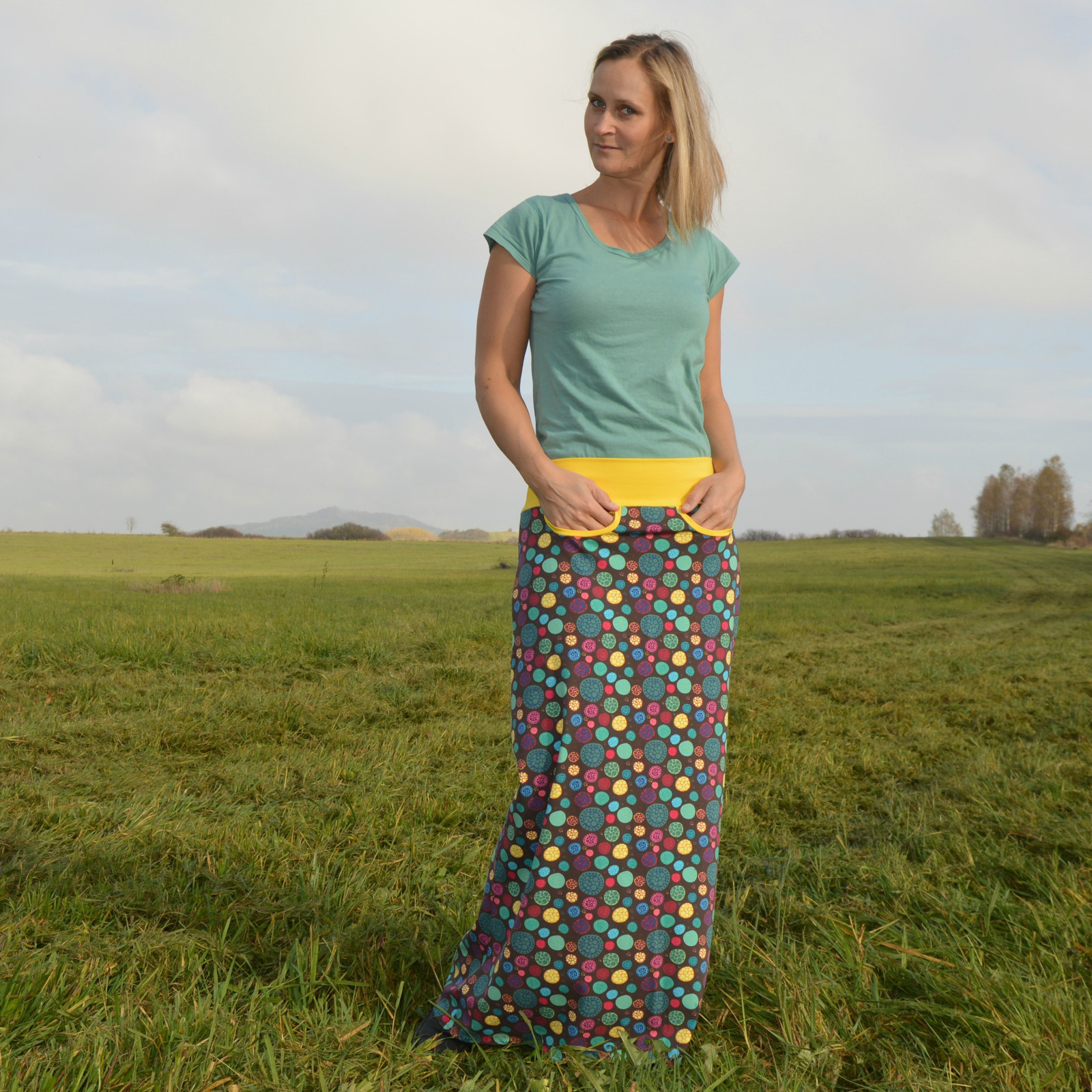 b37cdcf1fa3 Maxi sukně s kapsami   Zboží prodejce Klárba