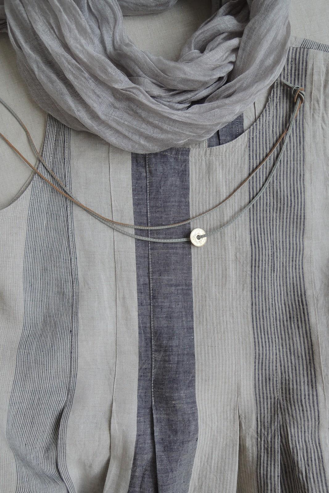 34ae166006fe LINN - šaty len - přírodní   indigo   Zboží prodejce ErmaBe